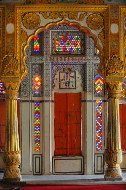 HMS0542632 India, Rajasthan State, Jodhpur, Mehrangarh fort, Phool Mahal (Flower palace)