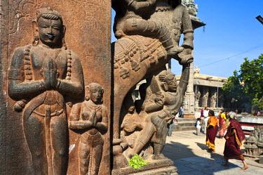 HMS0818112 India, Tamil Nadu State, Kanchipuram, Varadaraja Perumal temple (or Devarajaswami temple) dedicated to Vishnu