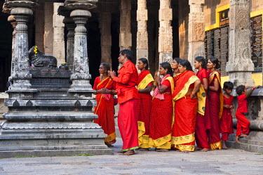 HMS0818130 India, Tamil Nadu State, Kanchipuram, Ekambaranathar temple (or Ekambareswarar) dedicated to Shiva