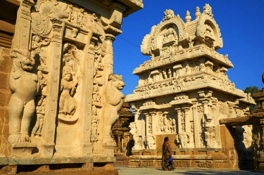 HMS0828665 India, Tamil Nadu State, Kanchipuram, Kailasanatha Temple of the 8th century