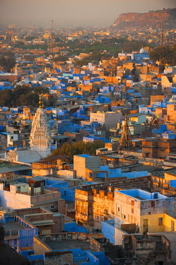 HMS1612717 India, Rajasthan state, Jodhpur, the blue city