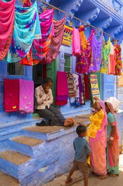 HMS1612723 India, Rajasthan state, Jodhpur, the blue city