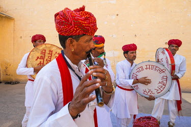 HMS1854192 India, Rajasthan State, Jodhpur, Mehrangarh Fort of the 15th century, for 5 days the Jodhpur RIFF (Rajasthan State International Folk Festival) takes place inside the fort