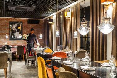 HMS2025287 India, New Delhi, Mehrauli Village restaurant Cheri One Qutub