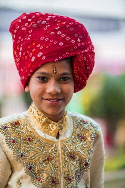 HMS2190557 India, Rajasthan state, Jaipur, brahman hindu wedding