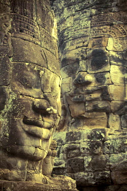 CM02073 Cambodia, Temples of Angkor (UNESCO site), Bayon, smiling face of Avalokiteshvara