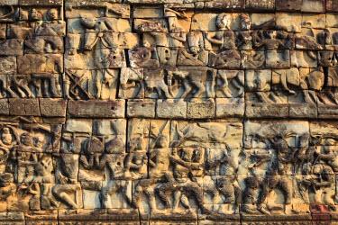 CM02089 Cambodia, Temples of Angkor (UNESCO site), Angkor Thom, Elephant Terrace