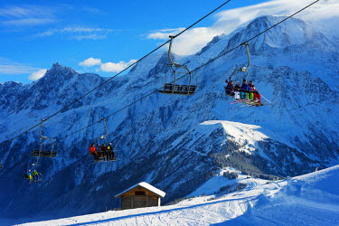 FRA8644 Europe, France, Haute Savoie, Rhone Alps, Chamonix Valley, Les Houches ski resort