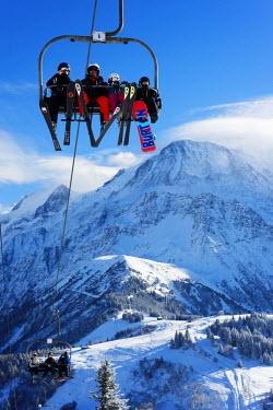 FRA8645 Europe, France, Haute Savoie, Rhone Alps, Chamonix Valley, Les Houches ski resort