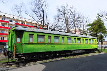 GEO0151 Eurasia, Caucasus region, Georgia, Shida Kartli, Gori, Museum of Joseph Stalin, Gori is birth place of Joseph Stalin, train carriage used by Stalin