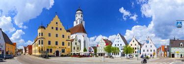 DE05984 Historical Central Square, Hochstadt, Swabia, Bavaria, Germany