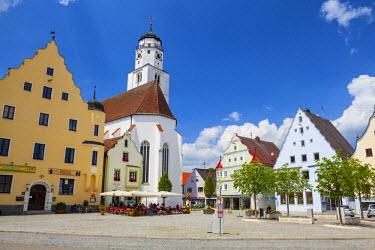 DE05986 Historical Central Square, Hochstadt, Swabia, Bavaria, Germany