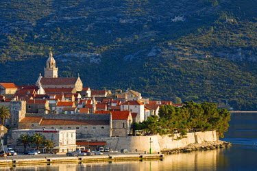 CRO1424AW Europe, Balkans, Croatia, Korcula, Korcula town