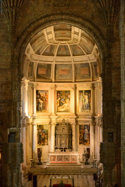 POR8274AW Church of the Jeronimos Monastery (Mosteiro dos Jeronimos), a Unesco World Heritage Site. Lisbon, Portugal
