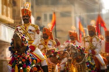 IND7976AW Asia, India, Rajasthan, Jaisalmer, desert festival