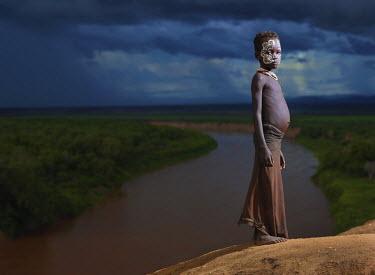 ETH2744AW Karo boy, Omo Valley, Ehtiopia, Africa