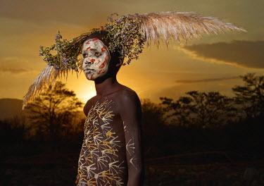 ETH2774AW Suri boy, Omo Valley, Ethiopia, Africa