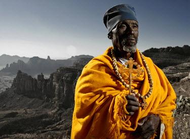 ETH2798AW Head Priest at Debre Maryan Korkor, Tigray,  Ethiopia, Africa