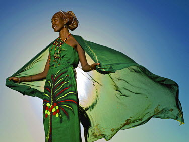 KEN9990AW Gabbra woman, Northern Kenya, Africa