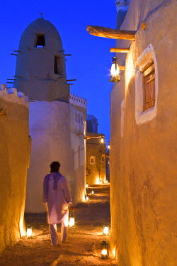HMS0315680 Egypt, Lower Egypt, Libyan Desert, Bahareyya Oasis, Lazuli Lodge, Ecolodge