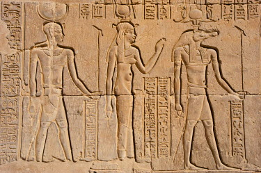 HMS0309405 Egypt, Upper Egypt, Nile Valley, Kom Ombo Temple dedicated to Sobek, the god with a crocodile's head