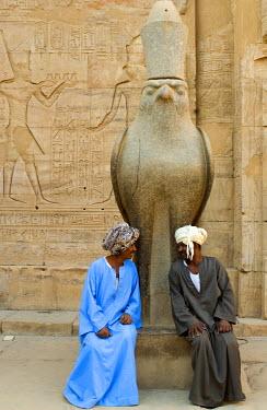 HMS0239009 Egypt, Upper Egypt, Nile Valley, Edfu, temple dedicated to Horus God