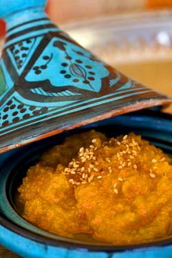 HMS0225999 Morocco, Great South, Marrakesh, imperial city, sugar pumpkin salad in a Tajine dish