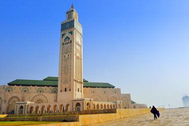 HMS2014972 Morocco, Casablanca, Grand Hassan II Mosque