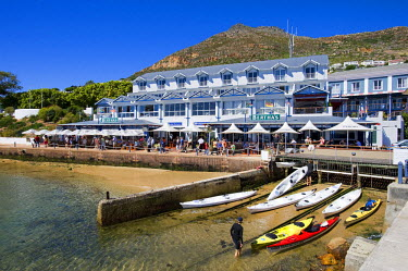HMS0385637 South Africa, Western Cape, Cape peninsula, Simonstown, harbour and pub
