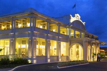 FIJ1037AW Grand Pacific Hotel at dusk, Suva, Viti Levu, Fiji