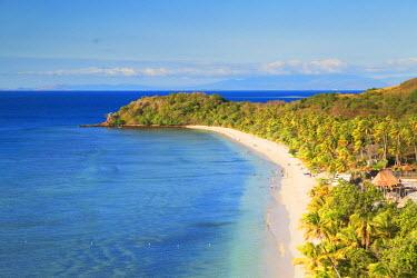 FIJ1058AW Beach at Mana Island Resort, Mana Island, Mamanuca Islands, Fiji