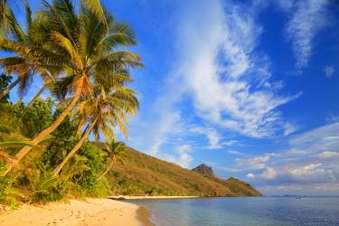FIJ1086AW Beach at Octopus Resort, Waya Island, Yasawa Islands, Fiji