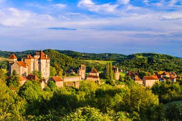 FRA8712AW Medieval village of Curemonte, Limousin, France