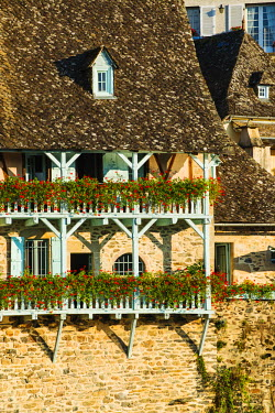 FRA8719AW Typical architecture in Argentat, Limousin, France