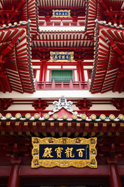 SP01570 Singapore, Chinatown, Buddha Tooth Relic Temple, exterior detail