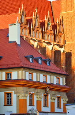 POL1662AW Architecture of the Ostrow Tumski district (Cathedral island). Wroclaw, Poland