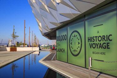 UK04015 United Kingdom, Northern Ireland, Belfast, View of the Titanic Belfast museum