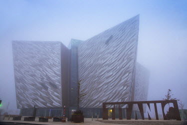 UK04020 United Kingdom, Northern Ireland, Belfast, View of the Titanic Belfast museum