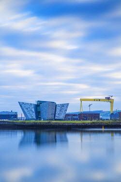 UK04050 United Kingdom, Northern Ireland, Belfast, View of the Titanic Belfast museum