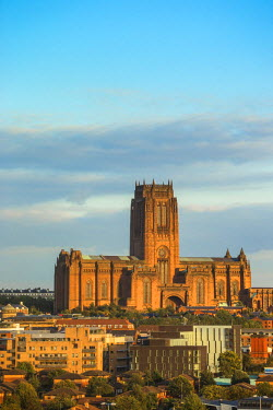 UK07701 United Kingdom, England, Merseyside, Liverpool, View of Liverpool Cathedral built on St James Mount
