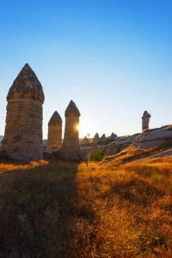 TUR0958 Turkey, Central Anatolia, Cappadocia, balloon flight over Goreme, Unesco World Heritage site