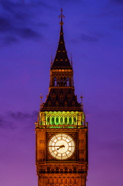 ENG12613AW United Kingdom, England, London, Houses of Parliament, Big Ben
