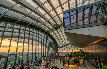 ENG12636AW United Kingdom, England, London, Sky Garden Observation Deck