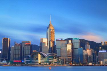 CH10603AW View of Convention Centre and Hong Kong Island skyline, Hong Kong, China