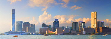 CH10615AW View of Tsim Sha Tsui and International Commerce Centre (ICC), Hong Kong, China