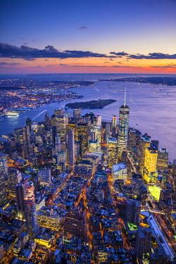 US60421 One World Trade Center and Lower Manhattan, New York City, New York, USA