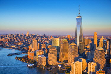 US60597 One World Trade Center and Lower Manhattan, New York City, New York, USA