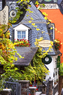 GER8924AW Street view, Rudesheim, Rhine valley, Hesse, Germany