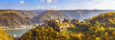 GER8944AW Burg Rheinfels, Sankt Goar, Rhineland-Palatinate, Germany