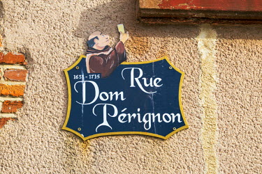 FRA8949AW Rue Dom Perignon, Hautvilliers, Marne valley, Champagne Ardenne, France